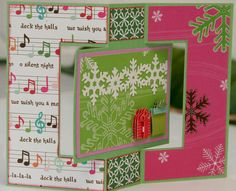 Christmas card - swing fold.  I need to try this one too!