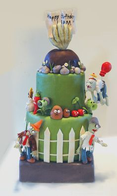 Plants vs. Zombies Birthday Cake   by ohmy!goodness