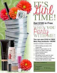 Come and party with me!  Check out my website:   www.marykay.com/mariacone