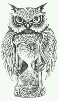 PapiRouge - Tattoo Zeichnungen Love this. but maybe change up the owl. Tatuajes Tattoos, Leg Tattoos, Body Art Tattoos, Sleeve Tattoos, Cool Tattoos, Tatoos, Circle Tattoos, Fish Tattoos, Owl Tattoo Design
