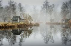 fishing lake in hungary looks frozen in time 8 This Hungarian Fishing Lake Looks Frozen in Time (11 Photos)