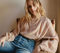In Soft Cotton Viscose, the DÔEN Jane Blouse is inspired by everyone's favorite…