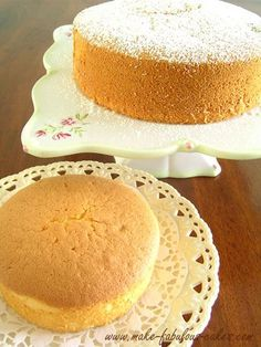 Light and Fluffy Chiffon Cake Recipe by Make Fabulous Cakes