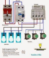 Esquemas eléctricos: Telerruptor para 3hilos