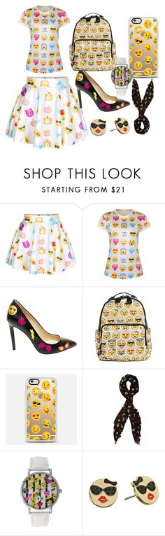 """emoji"" by kaykaylucas1011 ❤ liked on Polyvore featuring Betsey Johnson, MMS Design Studio, Casetify, A Classic Time Watch Co. and Kate Spade"