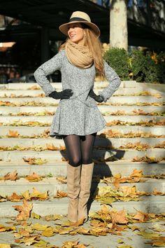 LOLA MANSÍL Fashion Diary: VESTIDO GRIS SHEINSIDE
