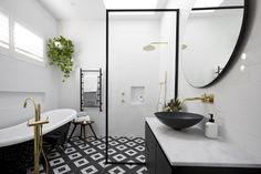The ultimate bathroom renovation checklist - The Interiors Addict The Block Bathroom, Laundry In Bathroom, Master Bathroom, Bathroom Tiling, Bathroom Stuff, Family Bathroom, White Bathroom, Bathroom Wall, Small Bathroom
