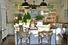 love the open shelves for the beach and the counter chairs  rough luxe: September 2012