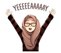 A sticker about beautiful women wearing a hijab. by Jaenal Arifin. Animated Teacher, Emoji People, Beautiful Hijab Girl, Beautiful Women, Hijab Drawing, Islamic Cartoon, Hijab Cartoon, Cute Cartoon Girl, Islamic Girl