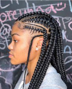 85 Box Braids Hairstyles for Black Women - Hairstyles Trends Box Braids Hairstyles, My Hairstyle, African Hairstyles, Cool Hairstyles, Children Hairstyles, Medium Weave Hairstyles, Teenage Hairstyles, Dreadlock Hairstyles, Hairstyles 2018