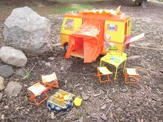 Vintage 1970 Barbie Country Camper. I had one of these and brought with me on family camping trips.