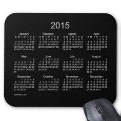 Neon Silver 2015 Calendar by Janz Mouse Pad