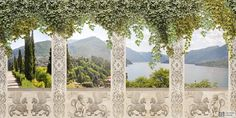 Античный балкон с видом на природу