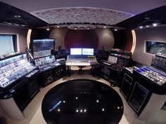 The Celldweller Spaceship within the depths of the FiXT Studio in Detroit, Michigan Studio Equipment, Studio Gear, Dj Equipment, Studio Setup, Recording Equipment, Audio Studio, Music Studio Room, Sound Studio, Music Rooms