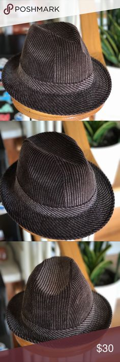 Fedora Hat Brand new men's Fedora hat. Wide-wale Corduroy. Dress up or causal. Never worn. Accessories Hats