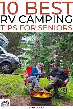 Here are the 10 best RV camping tips for seniors. Make the most out of your RV camping experience with these 10 tips. | RV | Trailer | Camper | RV tips | camping hacks for seniors