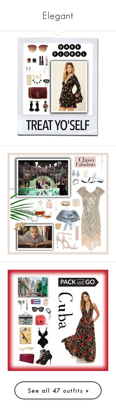 """""""Elegant"""" by anna-styles14 ❤ liked on Polyvore featuring Forever 21, Olivia Burton, Yves Saint Laurent, Tataborello, Boohoo, Casetify, Eichholtz, Spring Street, Bliss Diamond and Gatsby"""