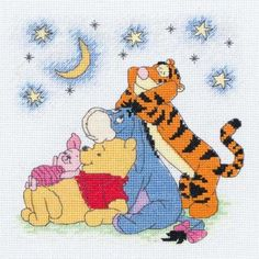 May stitch this one. Winnie the Pooh & the Gang Cross Stitch Kit - Cross Stitch Kits - Cross Stitch and Needlecraft RUCraft