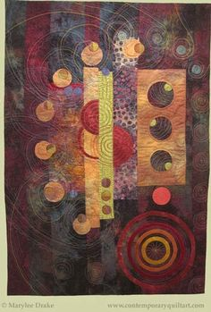 "Image of ""Spinning Out of Control"" quilt by Marylee Drake."