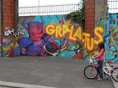 Street Art @Bassins à Flot, Bordeaux  rue Achard, rue des étrangers