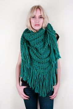 winter comfort in the simple, classical yet artful draping of a soft wooly fabric https://www.etsy.com/listing/158866509/the-lola-scarf-in-blue-green-heather-100
