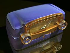 Cool purple Vintage Radio