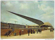 de pijl - expo '58 Brussel - paviljoen van de burgerlijke bouwkunde - ontworpen door  Jean Van Doosselaere, André Paduart en Jacques Moeschal