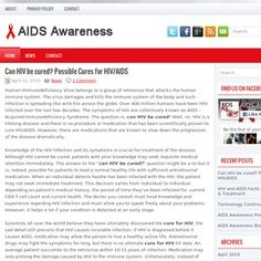 Raising HIV Awareness: learn more about HIV desease, latest news, prevention and precautions about the Acquired Immunodeficiency Syndrome (AIDS).