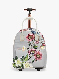 Buy Ted Baker Glloria Bluebell Floral Travel Bag, Light Grey from our Suitcases range at John Lewis & Partners. John Lewis Handbags, Radley Bags, Travel Bag, Travel Stuff, Crossbody Bag, Tote Bag, Inventions, Ted Baker, Purses And Bags