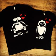 His Eve and Her Wall-E Shirts | Disney Inspired Couples Set | Wall E Custom Vacation Matching Shirts
