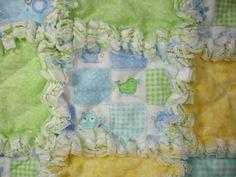 Baby Boy Flannel Rag Quilt