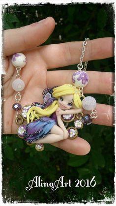 Guarda questo articolo nel mio negozio Etsy https://www.etsy.com/it/listing/398393385/necklace-crew-fairy-handmade-in-polimer