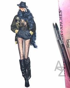 Fashion Sketchbook, Illustrators, Fashion Forward, Wonder Woman, Punk, Superhero, Drawing, Fashion Design, Beauty