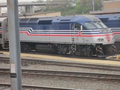 Virginia Railway Express train in the yard at Washington, DC - 3/2012 by D. Canary