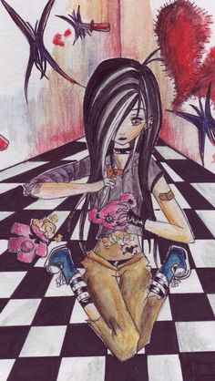 emo drawing I found Emo Pictures, Crafts With Pictures, Pictures To Draw, Dark Drawings, Cool Drawings, Emo Art, Sketch 2, Pastel Goth, Dark Art