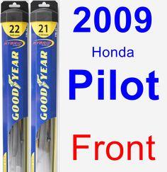 Front Wiper Blade Pack for 2009 Honda Pilot - Hybrid