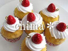 軽量粘土でカップケーキ - ちまじん。(樹脂粘土&デコスイーツ&ビーズブログ)