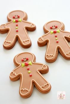 Gingerbread man cookie video tutorial