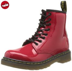 Dr. Martens DELANEY Patent RED, Mädchen Bootschuhe, Rot (Red), 30 EU (11.5 Kinder UK) (*Partner-Link)