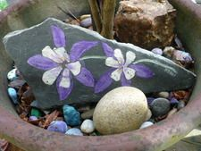 Slate Art, hand painted in acrylic and sealed with a clear gloss. One of a kind art piece.