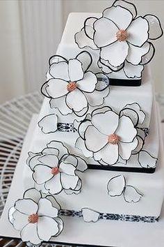 Wedding Cakes | Black + White