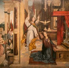size: Giclee Print: Annunciation, 1523 by Carlos Frey : Medieval Paintings, Mary And Jesus, Ways Of Seeing, Figurative Art, Find Art, Framed Artwork, Renaissance, Giclee Print, Pop Culture