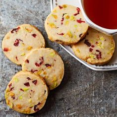 Pistachio Cranberry Icebox Cookies: This colorful treat is loaded with flavor. Recipe: http://www.midwestliving.com/recipe/pistachio-cranberry-icebox-cookies/    More holiday cookie recipes: http://www.midwestliving.com/food/holiday/38-christmas-cookie-recipes-to-treasure/page/2/0