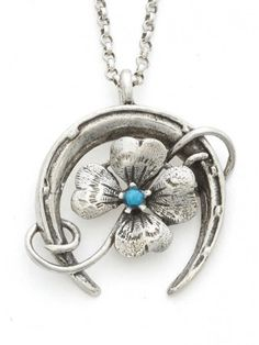 """""""Duple Luck"""" Necklace by RockLove Jewelry (Silver)"""