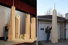 Ces sculptures titanesques ont été réalisées à l'aide de simples allumettes