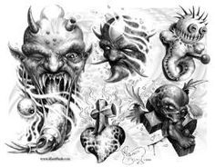 Lessons That Will Get You In The arms of The Man You love Skull Tattoo Design, Tattoo Design Drawings, Tattoo Designs, Scarecrow Tattoo, Chucky Tattoo, Paul Booth, Shadow Monster, Demon Drawings, Death Art