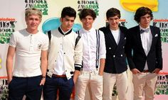 One Direction at the Nickelodean Kids Choice Awards