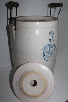 Antique Crock 3 Gallon Butter Churn