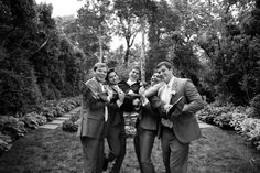 Oatlands Historic House & Gardens- You don't have to be serious! Groomsmen having fun. K.D.Burke Photography.