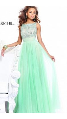 Sherri Hill 11022 Green Backless Prom Dress